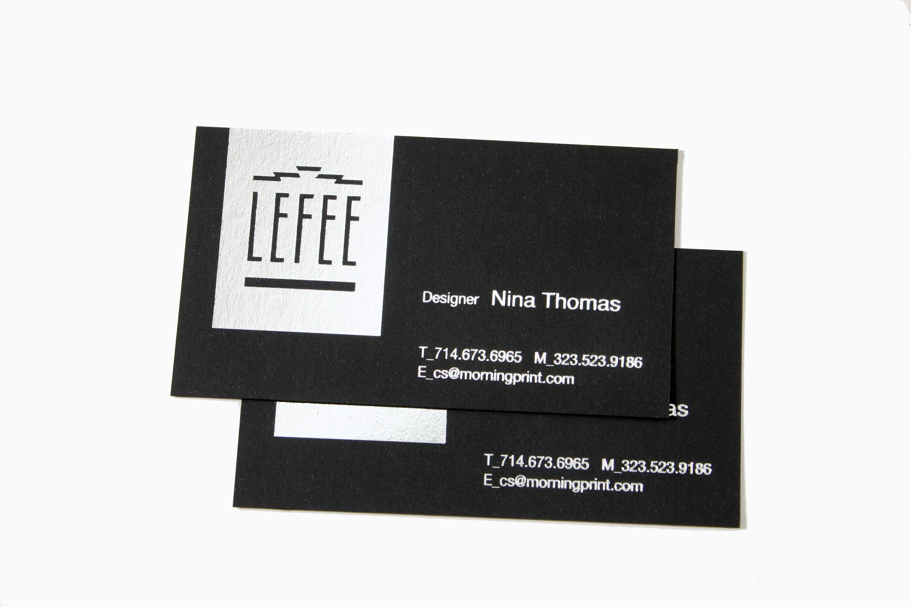 black business card | MorningPrint Blog