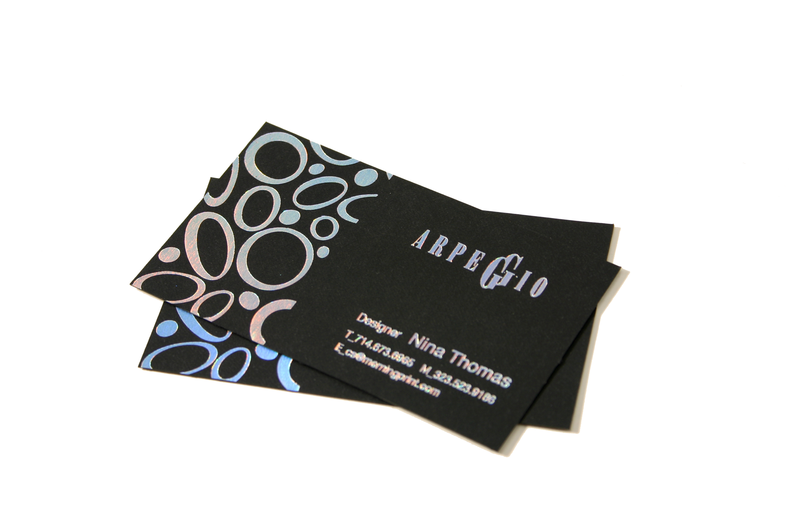 black business card | MorningPrint Blog