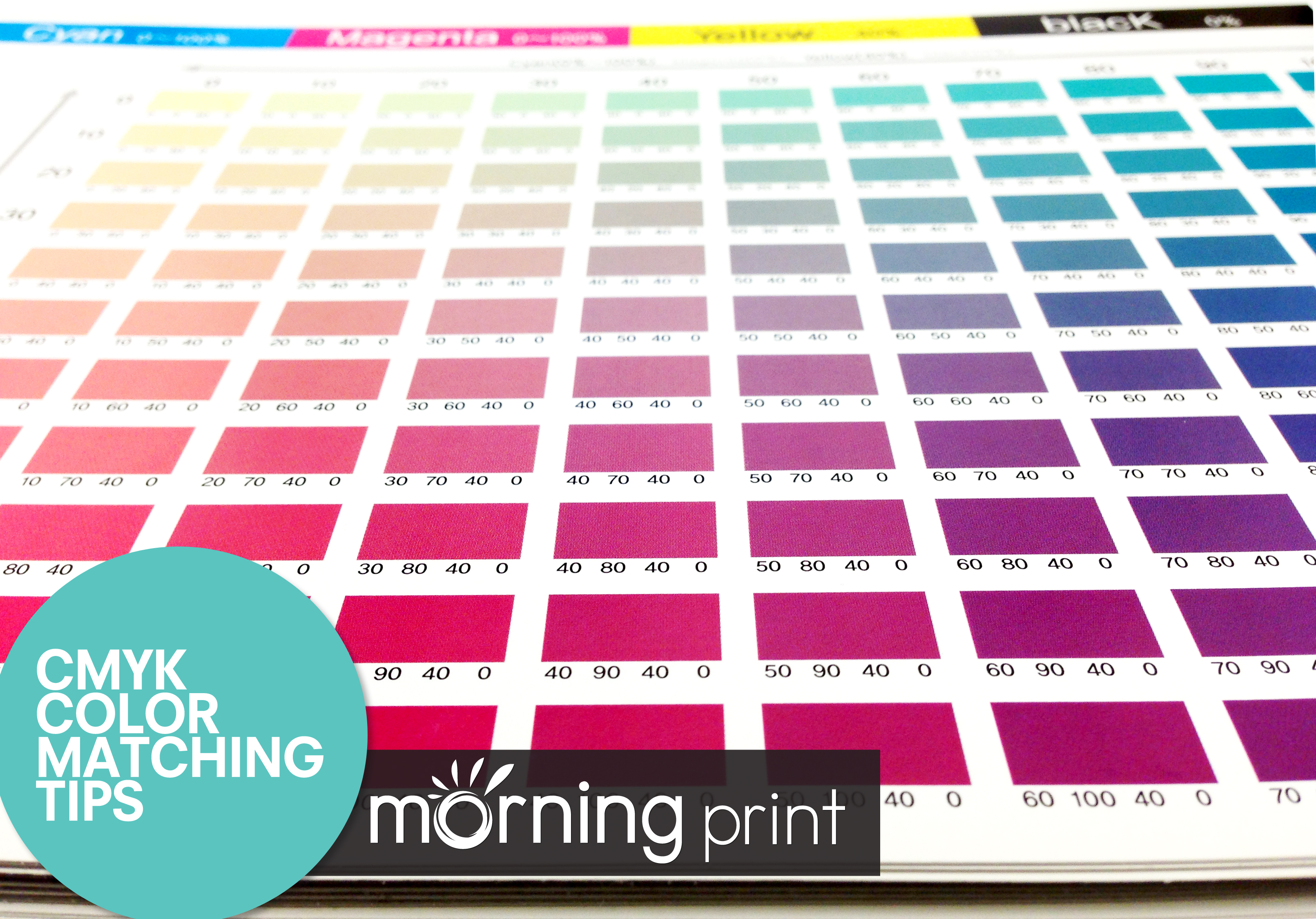 MorningPrint Hint CMYK Color Matching Tips