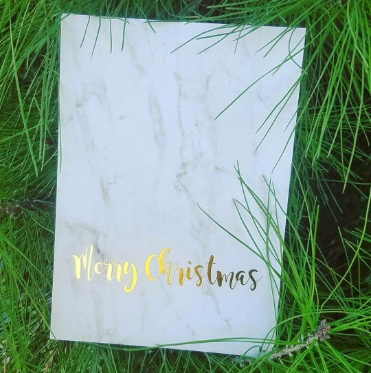 Glossy Gold Foiling Holiday Card