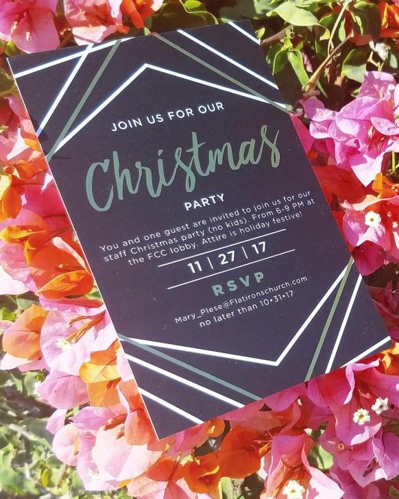 Holiday Partyu Holiday Card