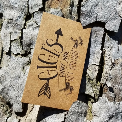Eco-friendly Business Cards and Stickers Vintage Kraft