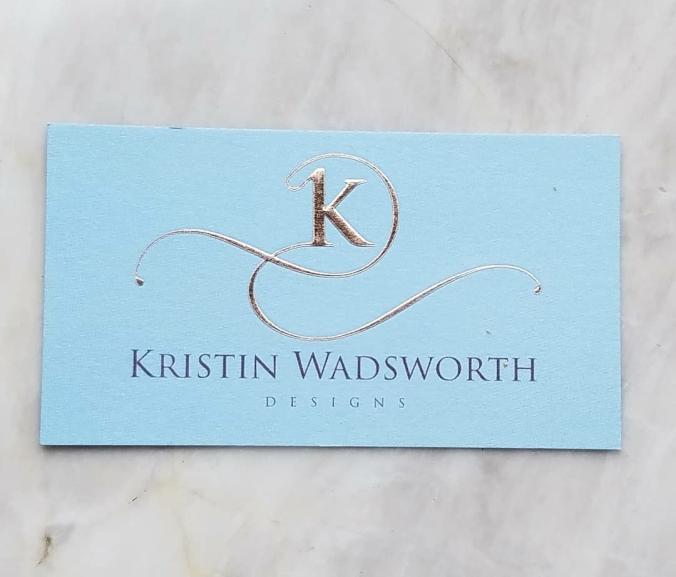 Small Business Spotlight Kristin Wadsworth Business Card