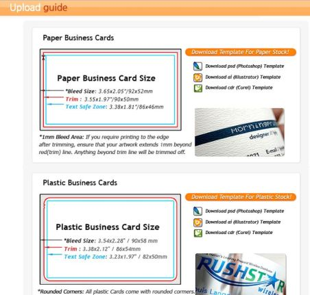 Plastic business card morningprint a guide to custom cymk how to order business cards upload guidelines reheart Image collections