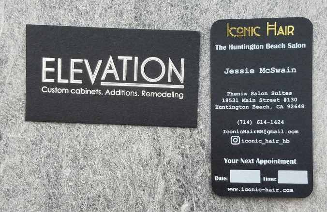 Black Business Cards and Colored Business Cards